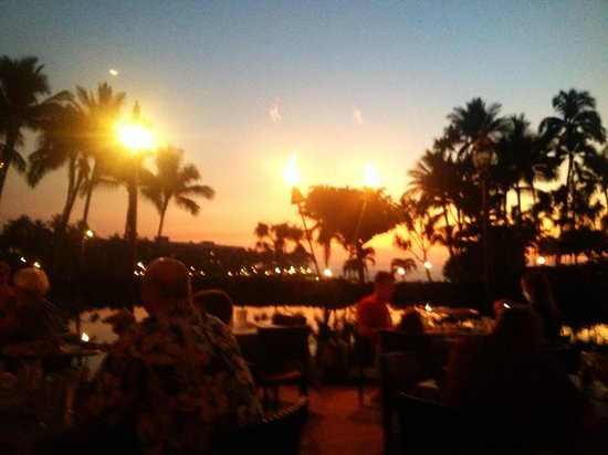 Dona & Toni's Pizza - Hilton Waikoloa Village: View from our table at Dona and Toni's Pizza