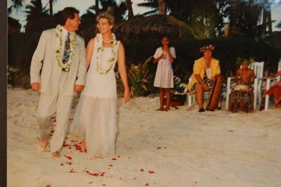 Manuia Beach Resort: Wedding Day - October 1996