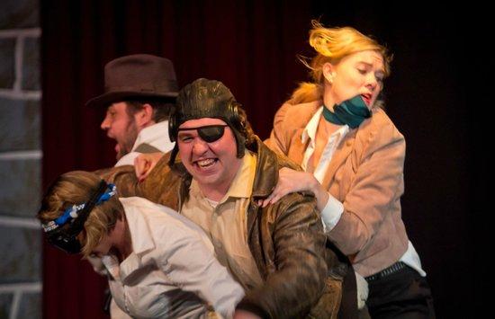 "Jet City Improv presents ""Men of Action."" Photo by Todd Gardiner."