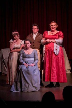 "Jet City Improv presents ""Austen Translation."" Photo by Todd Gardiner."