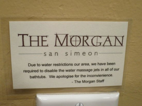 The Morgan at San Simeon: read before checking in!