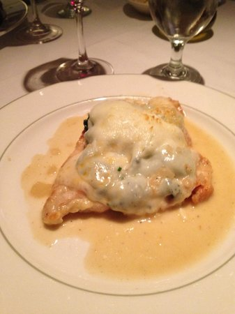 Sam's Place : Wow! Yummy chicken with spinach and mozzarella special.