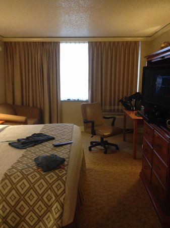 Crowne Plaza Executive Center Baton Rouge: Wide window.  Couch need to be replaced. Extra room