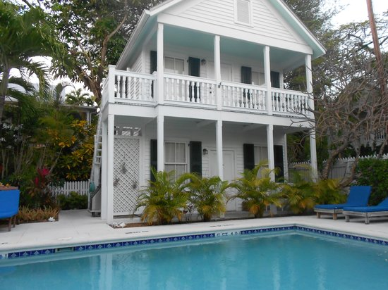 The Marquesa room is located upstairs in the Conch House Heritage Inn's pool house, which is sho