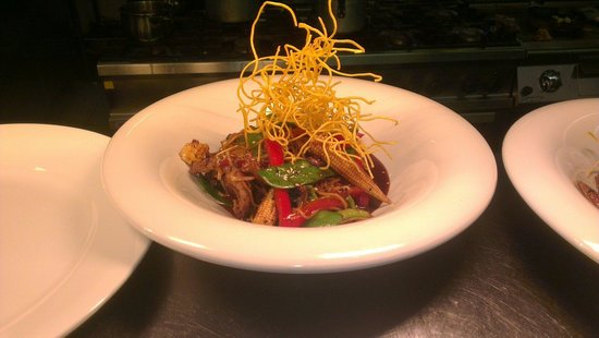 Cartin's Mill Restaurant: Chicken Chilli Noodle Stirfry with Ginger and Sesame Soy...