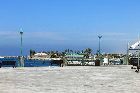 Redondo Beach Pier: View from an empty pier