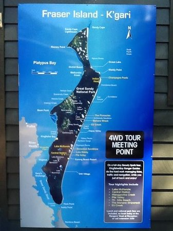 Kingfisher Bay Resort: map of Fraser