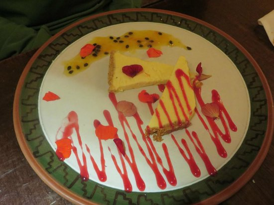 El Huacatay: cheesecake (the least impressive part of the meal)