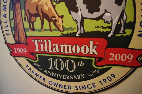 Tillamook Cheese Factory : Sign at the End of the Tour