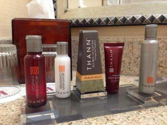 Irvine Marriott: Free toiletries.