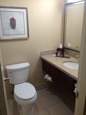 Irvine Marriott: Small, Cramped Bathroom (But Very Clean)