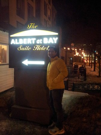 Albert at Bay Suite Hotel: Back Door Enterance