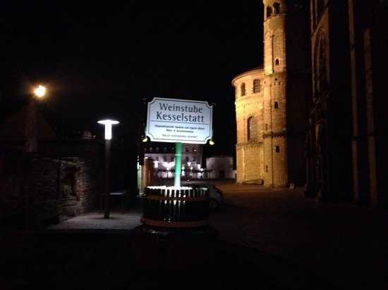 Weinstube Kesselstatt: sign at the entrance