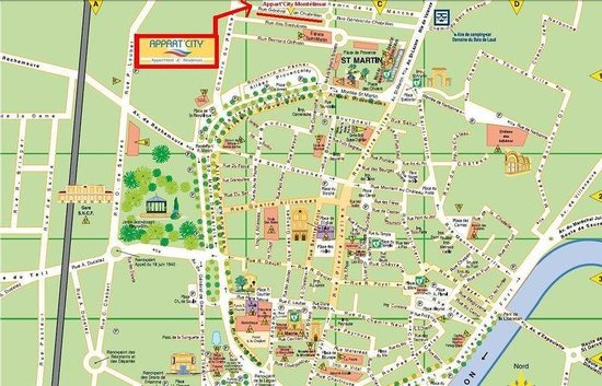 Appart'City Montelimar : Map