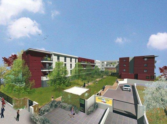 Appart'City Saint Cyr L'Ecole : Winter Exterior View