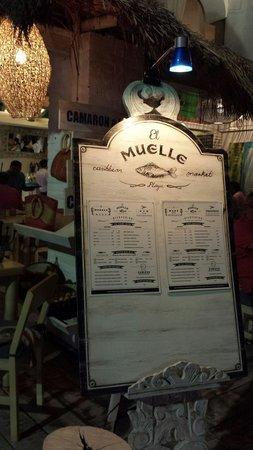 El Muelle Restaurant: Menu