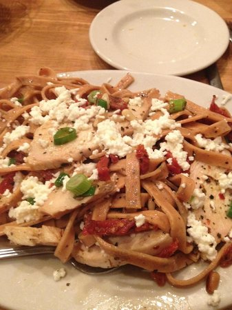 Pastabilities: Pasta - Chicken, feta, tomatoes, and bacon.