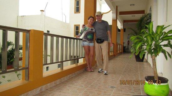 Hotel Marites Tulum: Pasillo del Hotel