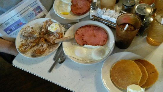 corn pancakes with egga & ham - Bild von Pancake Pantry, Nashville ...