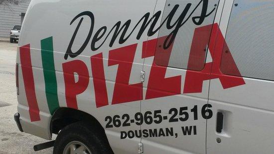 Denny's Pizza: The Denny's van!