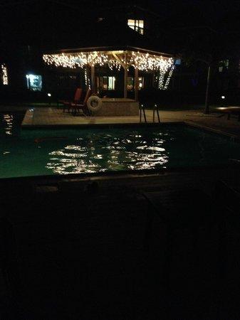 Plantana Condominiums: pool in the evening