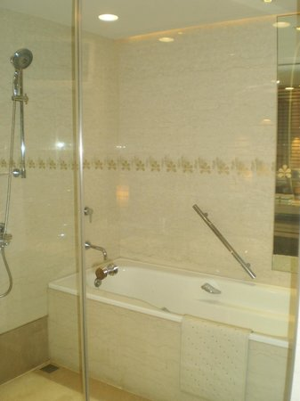 Hotel Royal-Nikko Taipei: バスルームです。テレビも常設されてますよ。