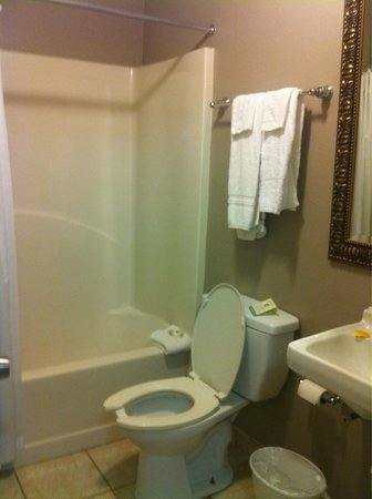 Country Hearth Inn Gulf Shores : Nice & clean only probes was open soap on sink that should have been trashed you can kinda see i