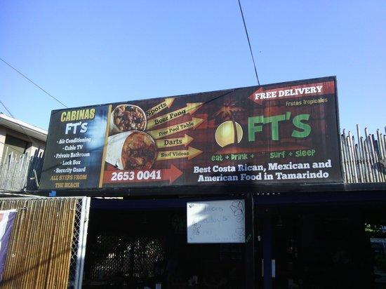 FT's Tamarindo Restaurant: View from the street