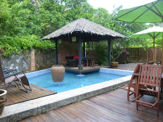 Planet Borneo Lodge: Dip Pool & Outdoor Deck