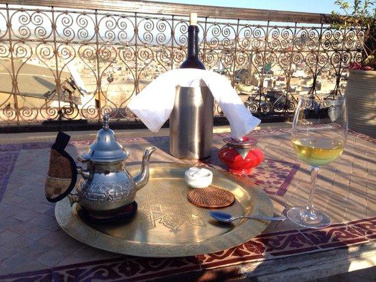 Dar Roumana: Afternoon Tea on the terrace