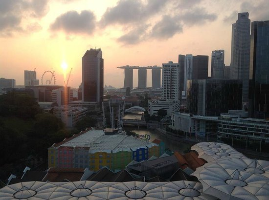 Novotel Singapore Clarke Quay: View from our room at sunrise. We thought it was the best view in Singapore.