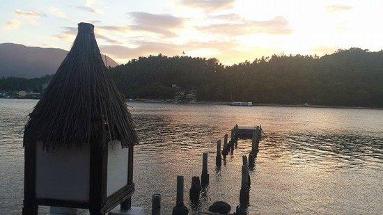 Buri Resort & Spa : Remnants of the pier, sunset