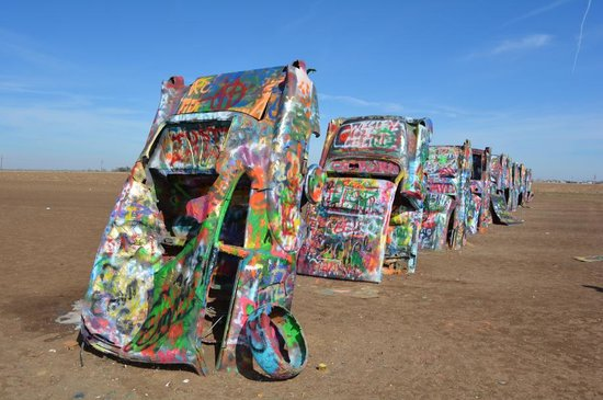 Cadillac Ranch: Bring Your Own Paint