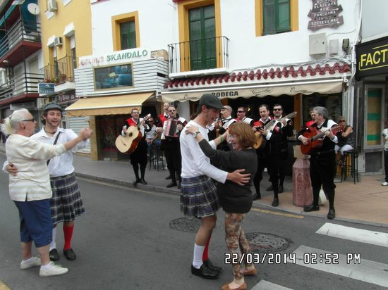 Calle San Miguel: Band and Dancers in San Miguel