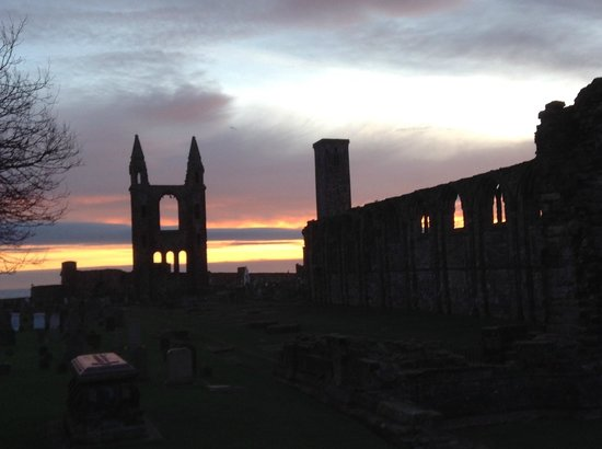 Craigtoun Meadows Holiday Park: St Andrews Cathedral taken at sunrise in January 2014