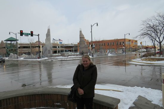 Downtown Rapid City: Downtown Plaza , looks warm eh ?