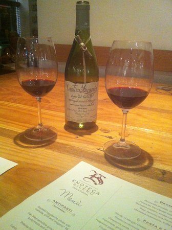 Enoteca Sileno: Our choice of red wine