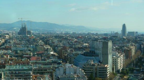 Gran Hotel Torre Catalunya: Excellent view of Barcelona