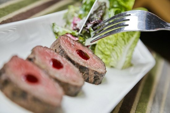 The Swan at Streatley Hotel: Home smoked tea & maple venison loin in the Riverside Restaurant