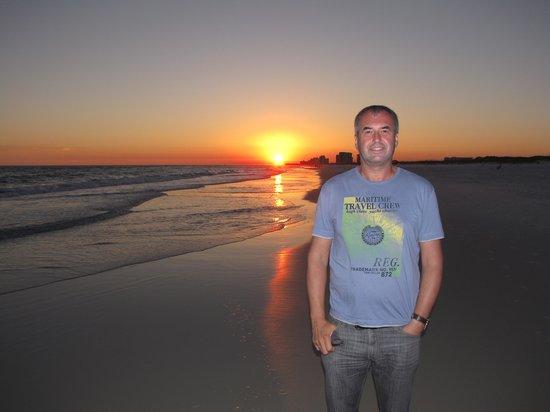 Crystal Sands Beach: Sonnenuntergang am Strand