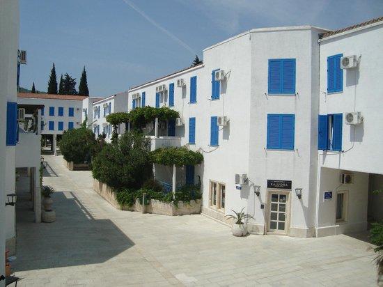 Hotel Slovenska Plaza : Вид из номера на главную улицу