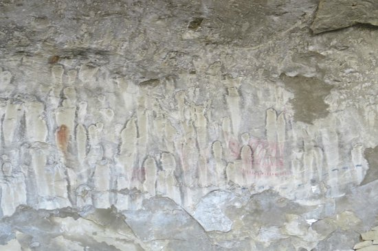 Pictograph Cave State Park : Main Cave