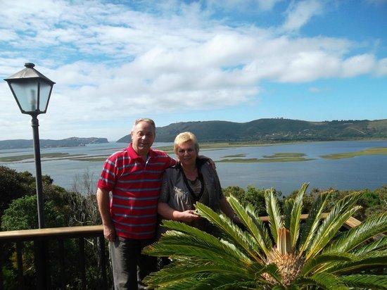 Villa Mulligan : Blick von Terrasse auf die Knysna-Lagune