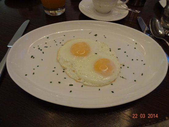 Andaz London Liverpool Street: The fried eggs