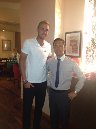 Orchid: England cricketer Stewart Broad