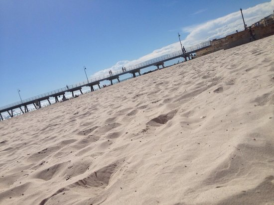 Glenelg Pier: The peri from the beach