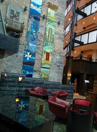Clontarf Castle Hotel: Tapestries in the reception area