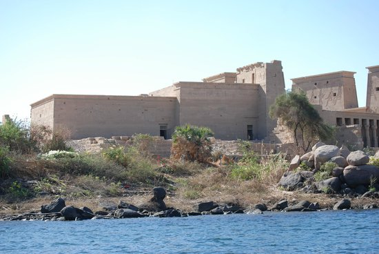 Temple de Philæ : The approach to Philae Island