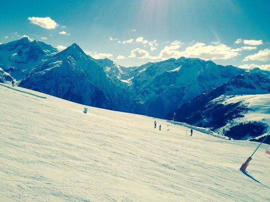 Les Deux Alpes : La vu de la crête
