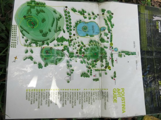 Poustinia Land Art Park: Overview Map (detailled descriptions will be given)
